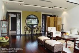 中式风格客厅过道木地板装修效果图欣赏