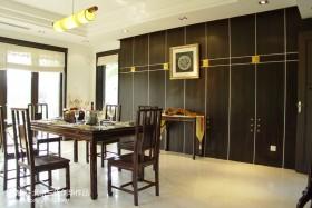 中式风格餐厅壁柜装修效果图