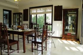 中式风格餐厅桌椅效果图