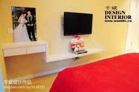 80后婚房卧室电视背景墙设计