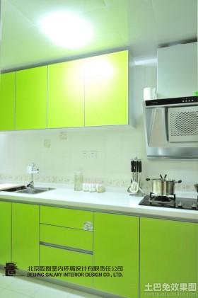 绿色厨房装修效果图大全2016图片