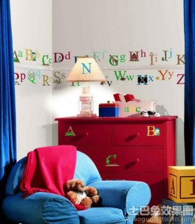 创意儿童房墙体彩绘效果图片