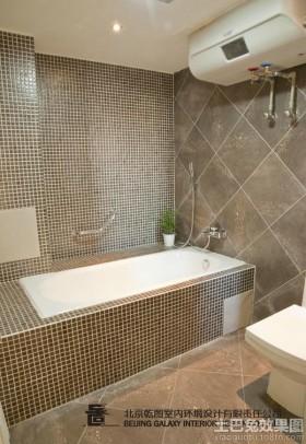 卫生间淋浴室马赛克瓷砖装修效果图 -装修效果图大全2017图片 装修设