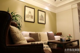 客厅沙发挂画墙效果图片