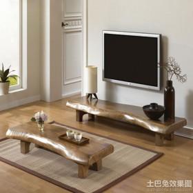 韩式风格客厅茶几电视柜图片