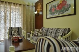 简约风格客厅家具摆放效果图欣赏