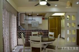 简约风格厨房餐厅一体装修效果图