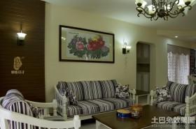客厅沙发十字绣图片