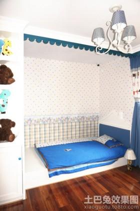 地中海风格儿童房榻榻米床装修效果图