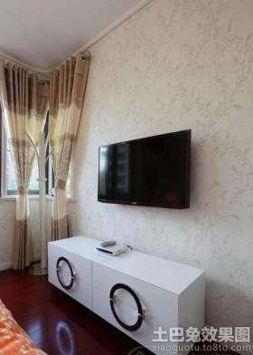卧室电视墙壁纸装修效果图
