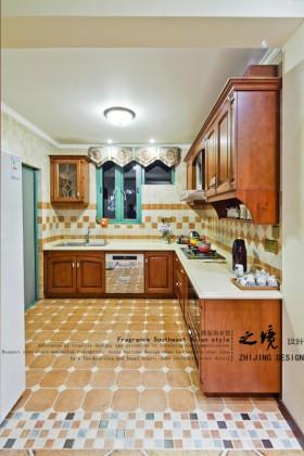 东南亚风格整体厨房橱柜效果图
