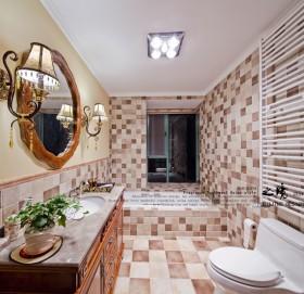 东南亚风格卫生间瓷砖装修效果图大全