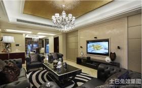 古典欧式90平新房装修效果图片
