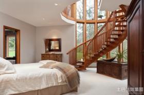 别墅卧室楼梯设计效果图