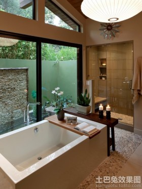 别墅浴室陶瓷水槽图片
