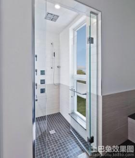 现代风格卫生间浴室门图片