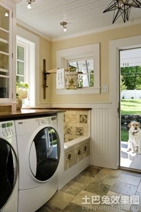 室内阳台洗衣房装修效果图片
