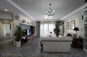 简约欧式风格四居室客厅装修效果图