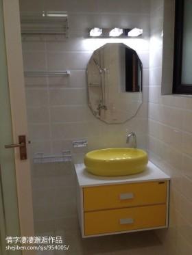 现代风格卫生间洗手台柜子图片大全