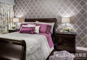 现代美式卧室液体壁纸图片