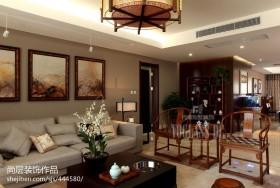 中式风格客厅沙发椅子摆放图片