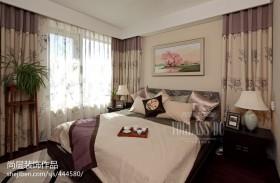 中式卧室窗帘图片欣赏