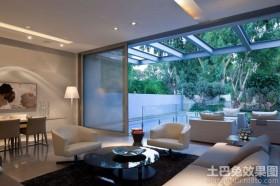 现代私人别墅设计客厅效果图