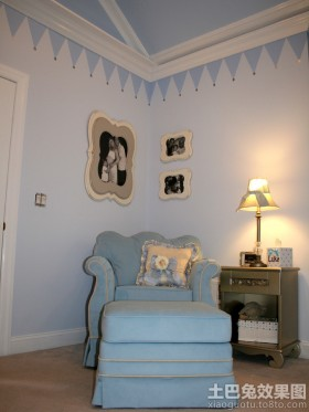 欧式风格客厅欧式地中海风格装修壁画图片