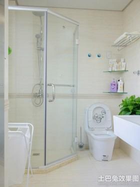 现代风格卫生间淋浴玻璃门图片