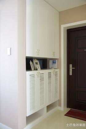 现代风格进门玄关柜效果图