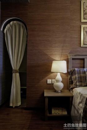 日式风格卧室床头灯具设计图片
