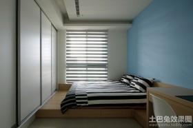 简约风格装修榻榻米卧室效果图
