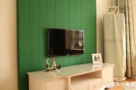 田园风格木制电视背景墙装修效果图