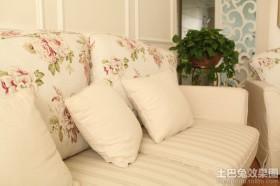 最新田园风格客厅沙发图片