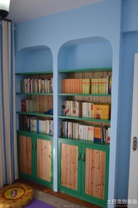 田园风格70平米小户型书房效果图