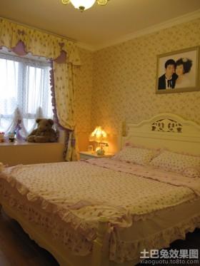 田园风格新婚卧室飘窗装修效果图