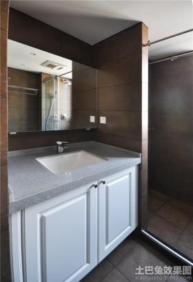小户型卫生间洗手台储物柜子效果图