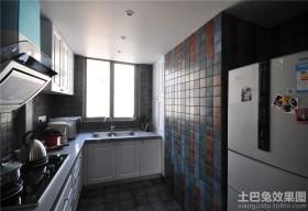小户型小厨房墙面瓷砖贴图