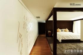 卧室过道木地板贴图