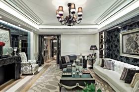 欧式新古典客厅吊顶装修效果图欣赏