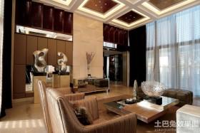 现代风格别墅客厅装修效果图大全2013