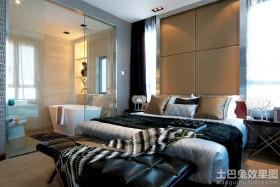 现代风格带卫生间主卧室装修效果图大全