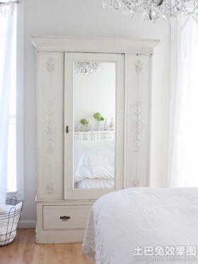 卧室欧式衣柜穿衣镜图片欣赏