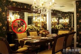 欧式风格家装餐厅镜面背景墙装修效果图