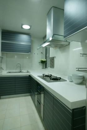 现代风格长厨房装修效果图欣赏