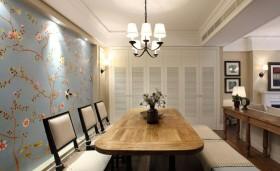 家装餐厅手绘背景墙装饰效果图