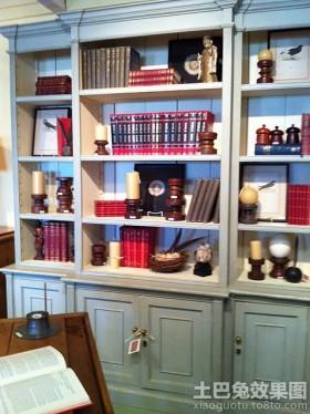 书房装修欧式书柜效果图
