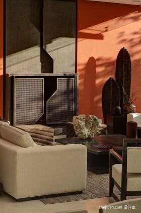 现代布沙发茶几图片
