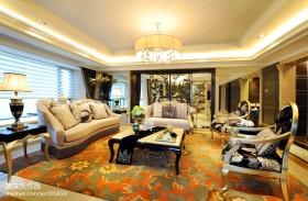 欧式风格别墅客厅吊顶装修效果图欣赏