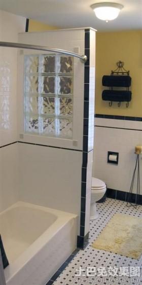 现代简约卫生间隔断墙装修效果图